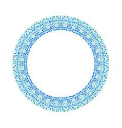 Geometrical floral frame - circular element vector