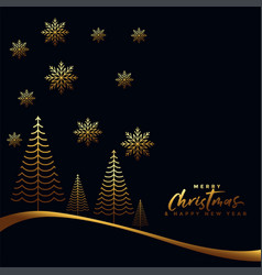 Gold and black merry christmas background vector