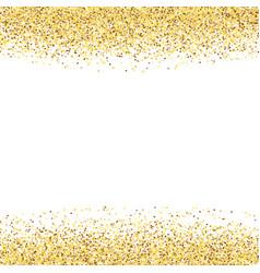 golden dust gold glitter on white background vector image