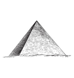Great pyramid giza egyptian architecture vector