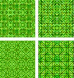 Green seamless mosaic pattern background set vector image