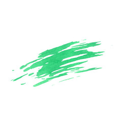 green smudge texture isolated white background vector image