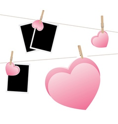Heart with Film Frame on Rope2 vector