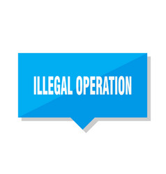 illegal operation price tag vector image
