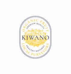 Kiwano purveyors oval frame badge or logo template vector
