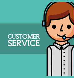 Man dispatcher employee customer service vector