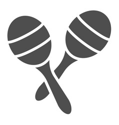 Maracas glyph icon music and mexican instrument vector