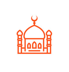 Mosque icon linear sign vector