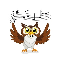 Musical owl vector