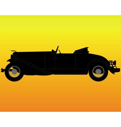 old convertible car vector image