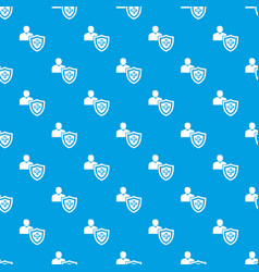 patient protection pattern seamless blue vector image
