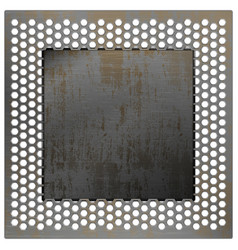 Perforated metal mesh vector