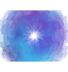 radial abstract mosaic background vector image vector image