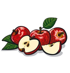 Red apples vector