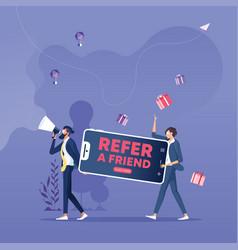 Referral program and social media marketing vector