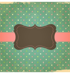 Retro Grunge Polka Dot Background vector image