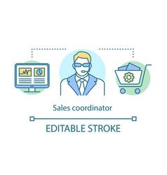 Sales coordinator concept icon customer support vector