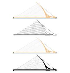 Samuel beckett bridge dublin ireland vector