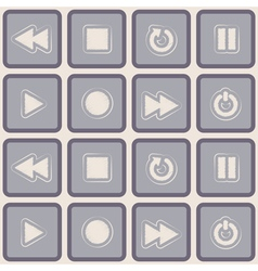 seamless background with player icons vector image
