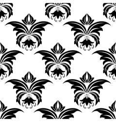 Seamless floral arabesque pattern vector image