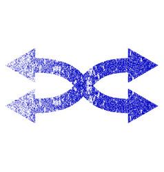 Shuffle arrows horizontal grunge textured icon vector