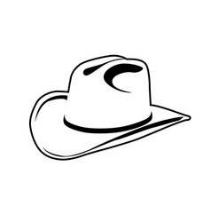 Simple outline of cowboy hat - symbol of wild west vector