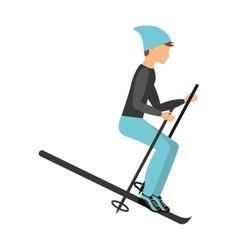 Snow ski isolated icon design vector