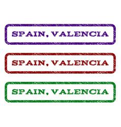 Spain valencia watermark stamp vector