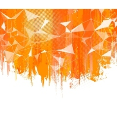 Splashes Orange Background Creative abstract vector image