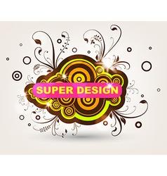 Spring Floral Grunge Design vector