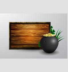 st patrick s day symbol board vector image