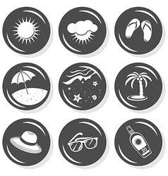 Summer swimming icons vector image