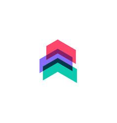 swipe up arrow logo icon vector image