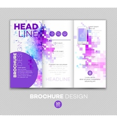 Template for brochure vector