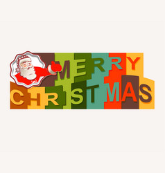 The text of a happy christmas with santa claus vector