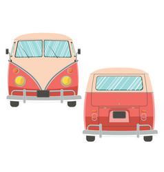 Traveling van design vector