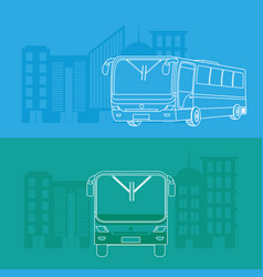 urban city bus vector image