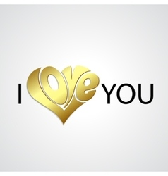 valentines card with love lettering vector image