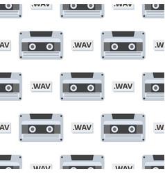 vintage audio cassette retro audio vector image