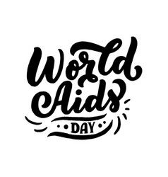 world aids day the trend calligraphy vector image