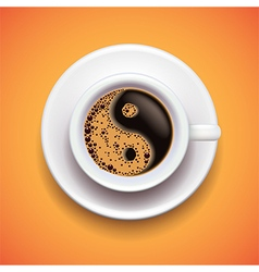 Yin-yang coffe cup relax concept vector