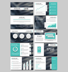 keynote style business presentation vector image