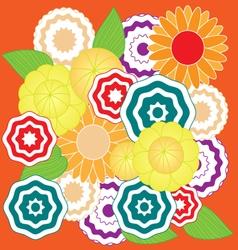 Springtime colorful flower pattern vector image vector image