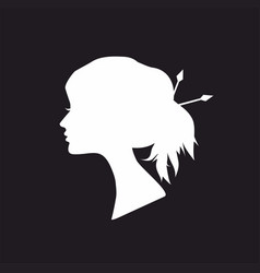 abstract white silhouette woman vector image vector image
