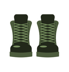 army shoes military footwear soldier special boot vector image