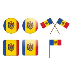 badges with flag of Moldova vector image vector image