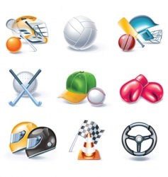 cartoon icons vector image