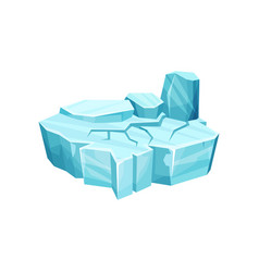 ice island for game user interface element for vector image vector image