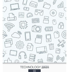 Technology wallpaper Black and white digital vector image vector image