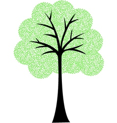 Art tree silhouette isolated on white background vector image vector image